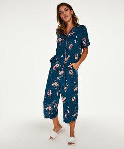 Woven pyjamastop, blå