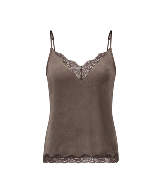 Velours Lace cami, Brown