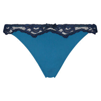 Secret Lace g-streng, blå