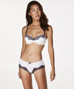Secret Lace shorts, hvid