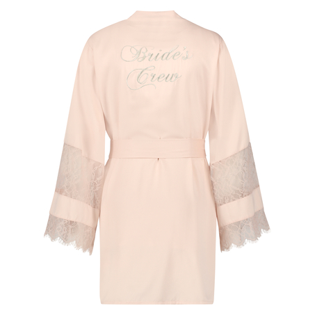 Kimono satin Bridal, pink