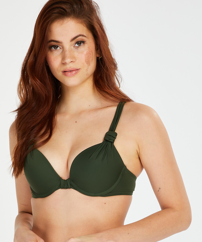 Luxe bikinitop med push-up Størrelse A - E, grøn, main