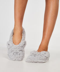 Fluffy ballerinahjemmesko, Grå
