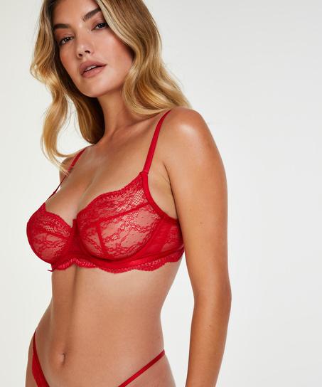 Ikke-formstøbt bøjle-bh Isabelle, rød