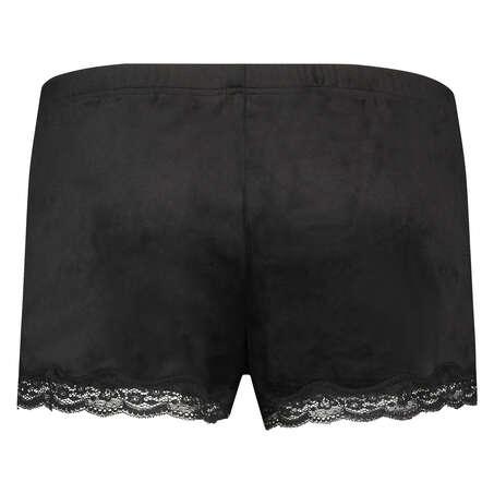 Shorts velour Lace, sort