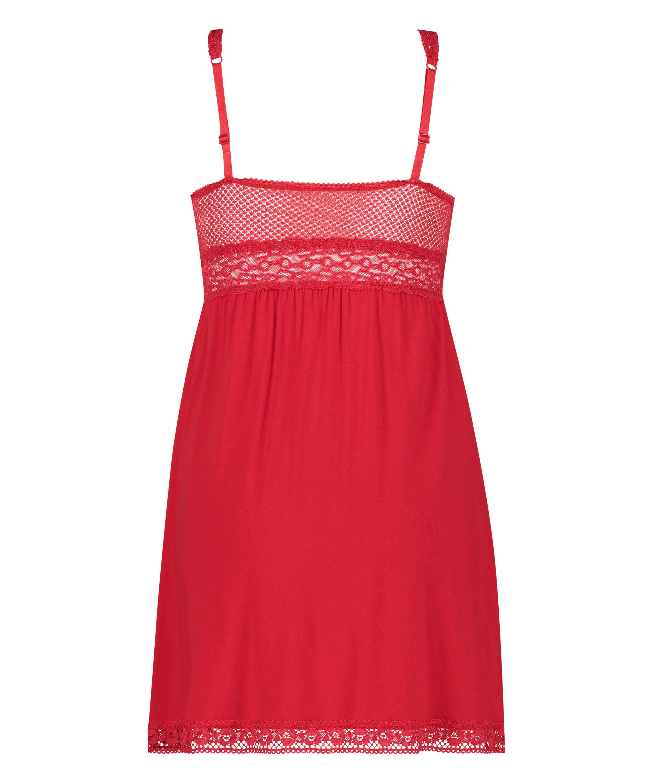 Natkjole Jersey Grafic Lace, rød, main