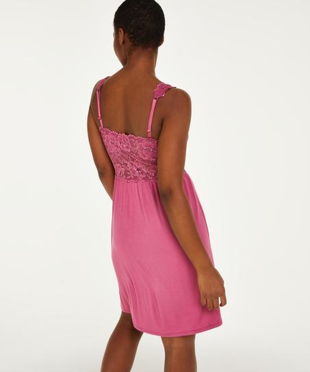 Natkjole Nora Lace, pink
