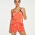 Shorts velour Lace, Orange