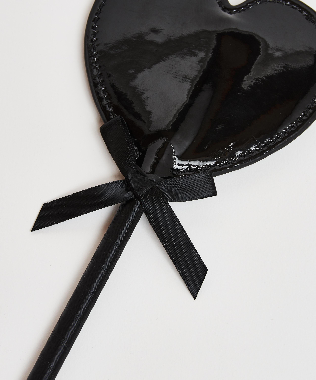 Privat pisk med læderagtigt look, sort, main