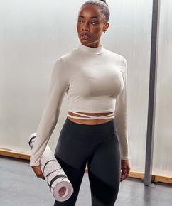HKMX Gør mig Zen med leggings med høj talje , sort