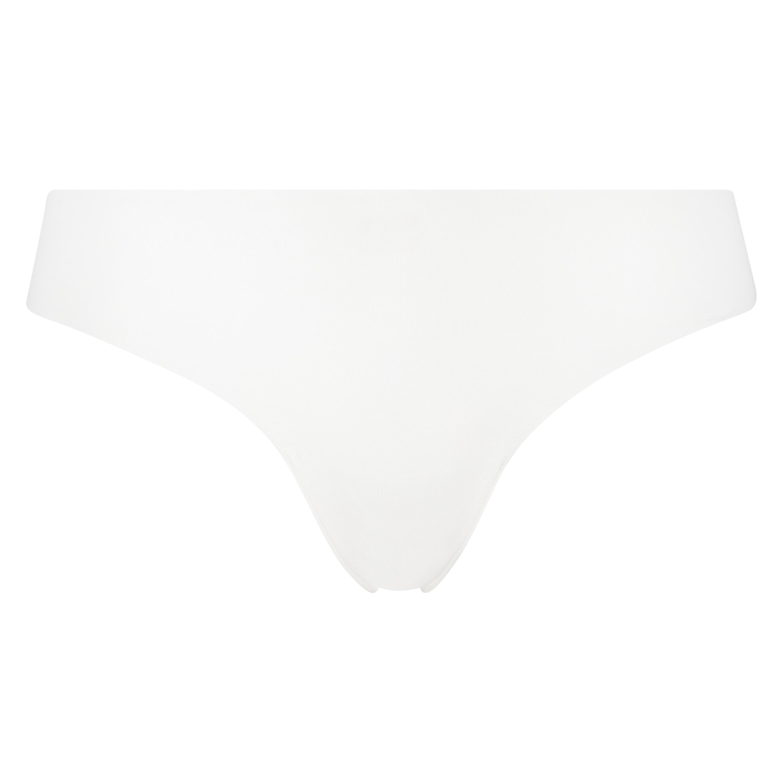 Invisible g-streng af bomuld, hvid, main