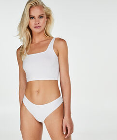 Lace Back usynlig g-streng, hvid