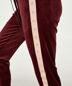 Velours Star joggingbukser, rød