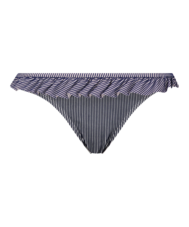 Rio bikinitrusse Ruffle Stripe, blå, main