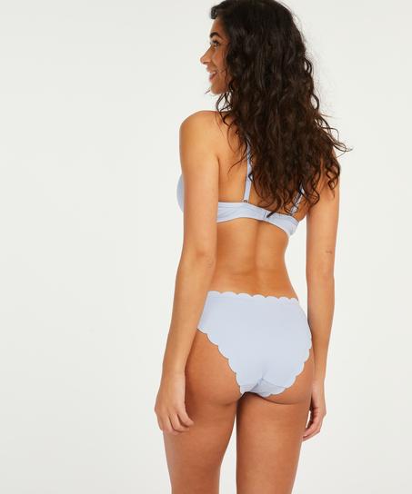 Scallop formstøbt bikinitop med bøjle, blå