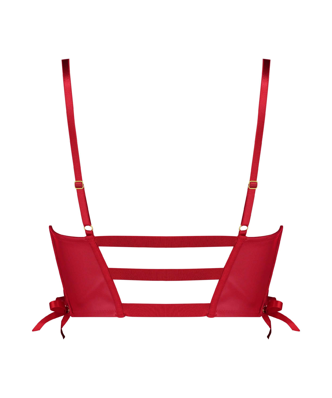Formstøbt push-up bøjle-bh Manu, rød, main