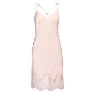 Lace Satin natkjole, pink
