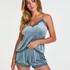 Cami Velour Lace, blå