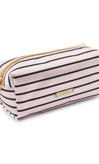 Stripe makeuptaske, pink