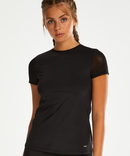 HKMX-sportsshirt med åben ryg, sort