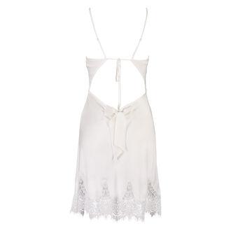 Satin Scallop Lace natkjole, hvid