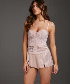 Shorts Satin Amelia Tap, pink