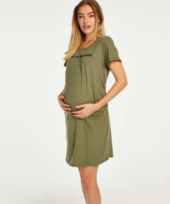 Pyjamas-T-shirt med korte ærmer til gravide, grøn