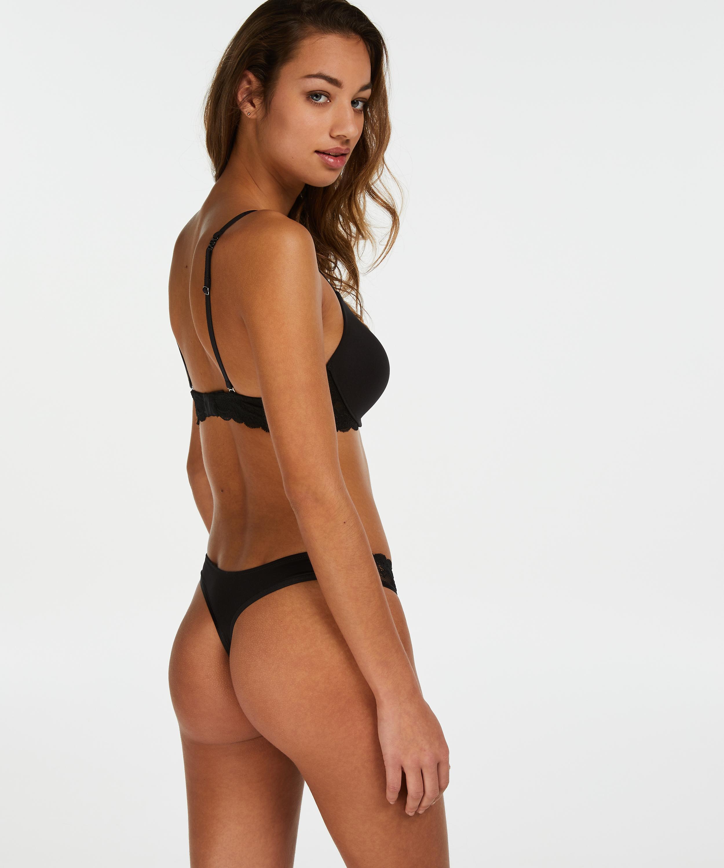 Angie formstøbt pushup-bøjle-bh, sort, main