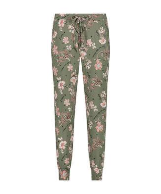 Jersey pyjamasbukser, grøn