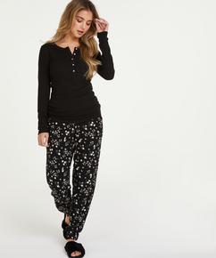 Pyjamasbukser Jersey, sort