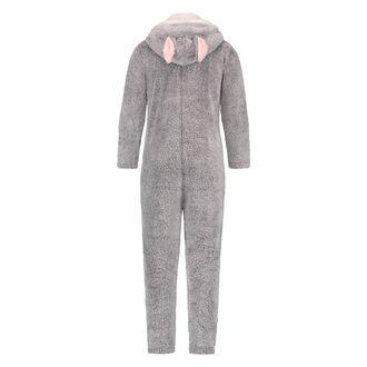 Teens Fleece Jumpsuit, Grå