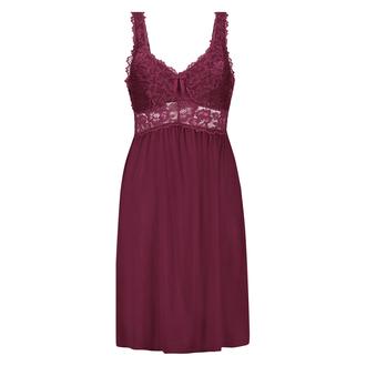 Modal Lace natkjole, rød