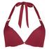 Formstøbt bøjle-bikinitop Golden Rings, rød