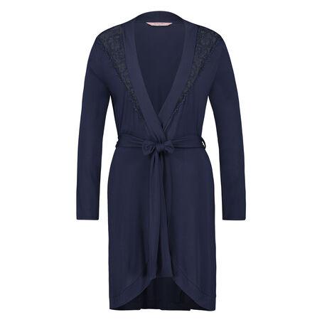 Modal Lace badekåbe, blå
