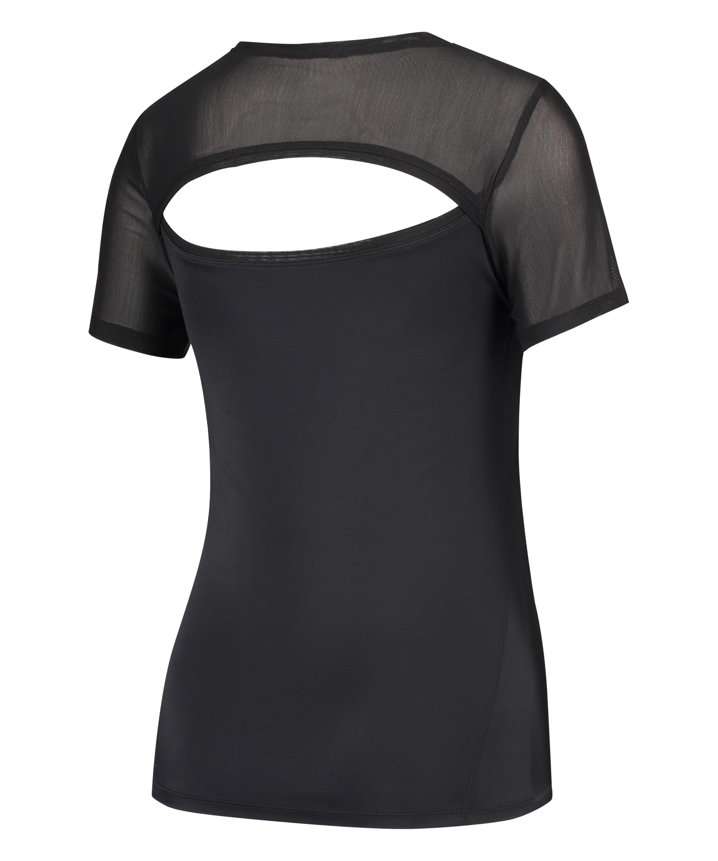 HKMX-sportsshirt med åben ryg, sort, main