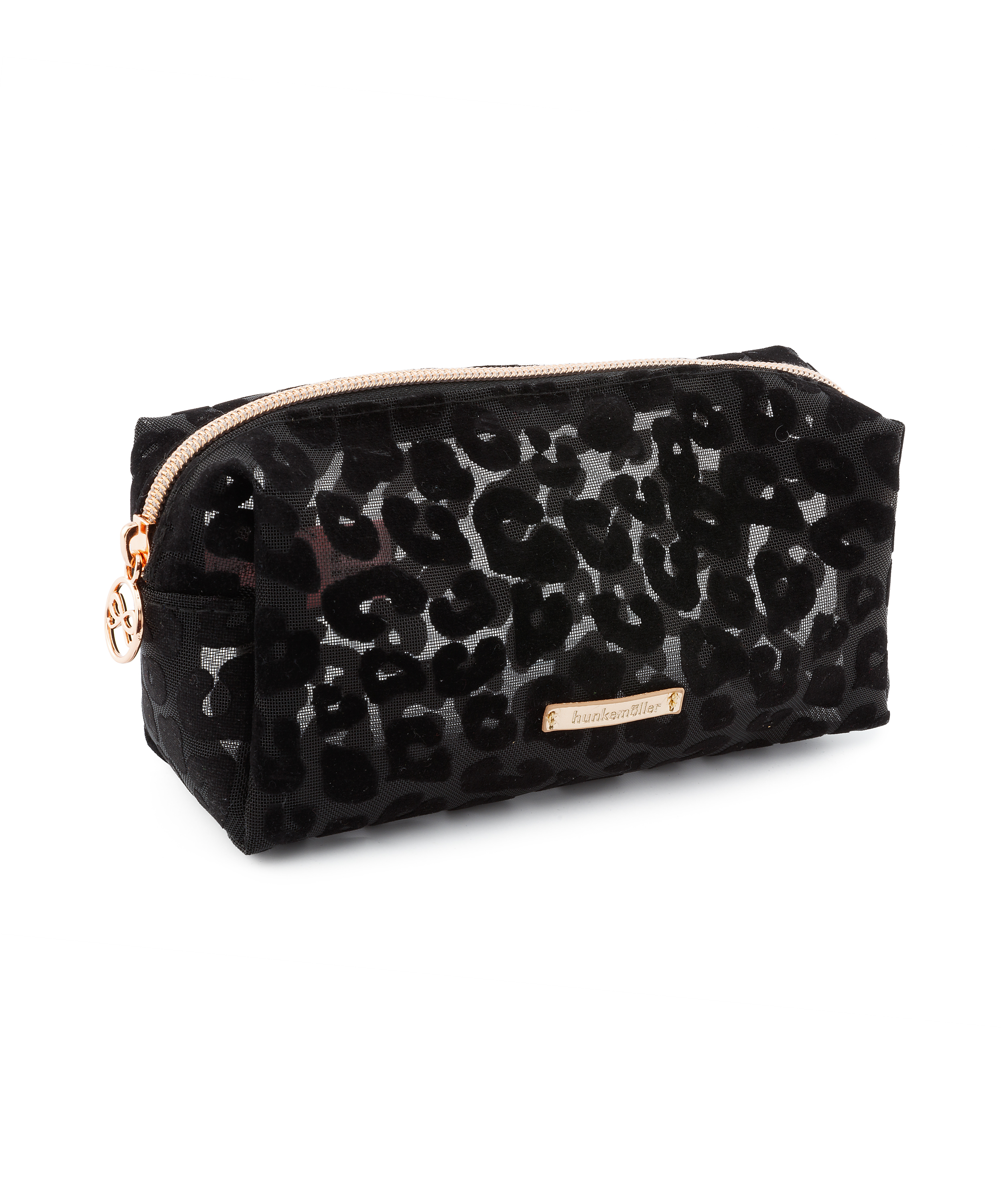 Mesh Leopard makeuptaske, sort, main